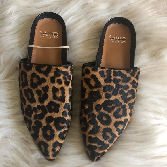 Nwot Leopard Backless Mules